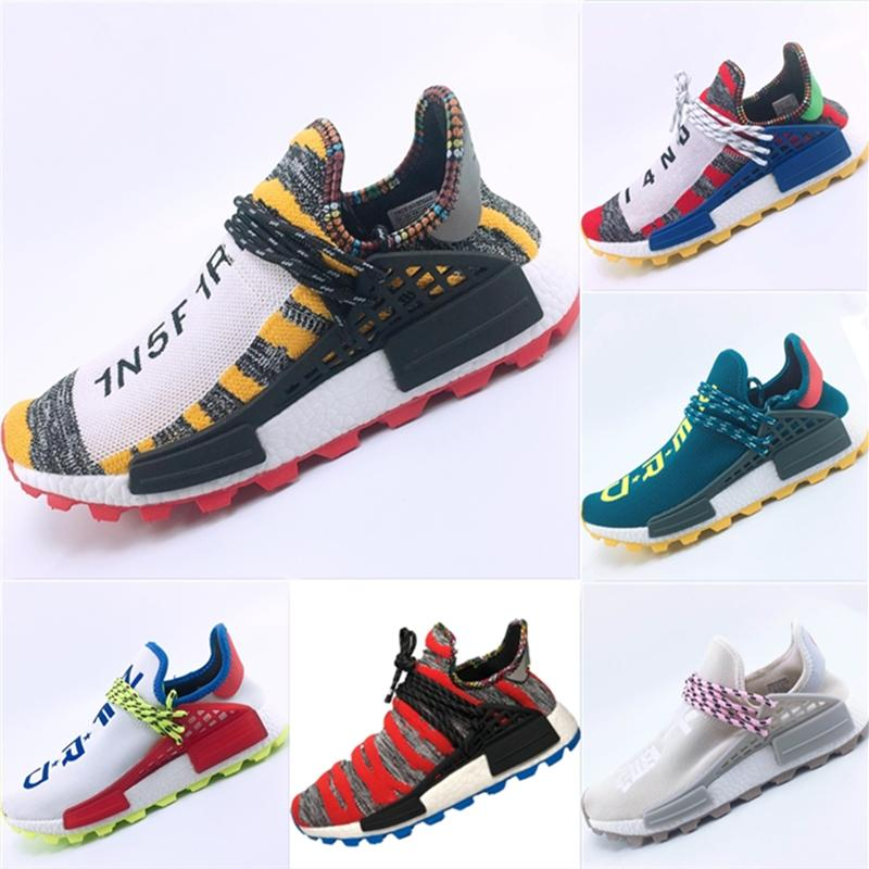 9ea5db969 With Box 2019 New PW HU Primeknit Breathable Running Sneakers Pharrell  Williams Human Race Nerd Creme Cushioning Athletic Shoes Eur  36 47 Cheap  Kid Shoes ...