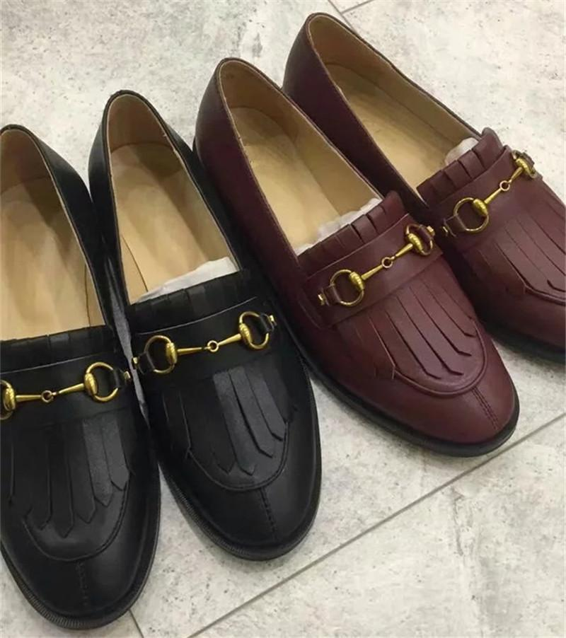 72224721144 2018 Luxury Brand Women Casual Flats New Designer Classic Chain ...