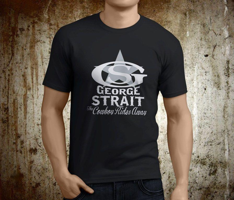 7d891c65c New Popular George Strait American King of Country Men s Black TShirt Size  S-3XL Size Discout Hot New Tshirt Tees Custom Jersey t shirt