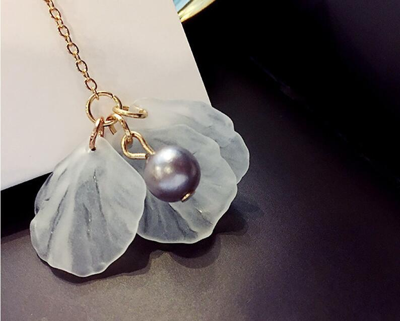 Fashion Golden Color Long Asymmetric Tassel earrings Leaf Imitation Pearl Earrings For Women Party Jewelry brincos earrings E0283