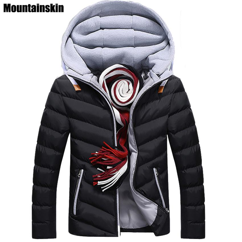 Moutainskin 4XL Winter Parkas Men's Jackets 2018 Casual Hooded Coats Men Outerwear Thick Cotton Jacket Male Brand Clothing SA152 SH190902