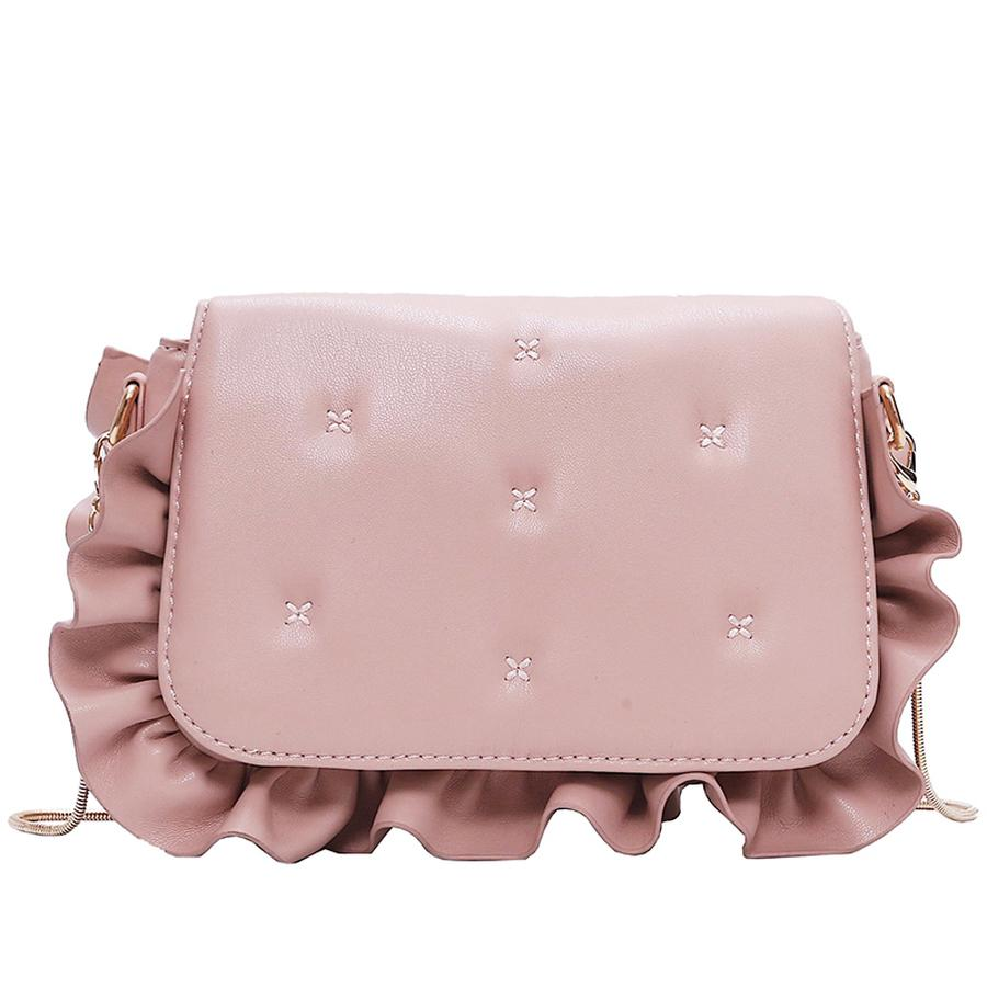 f907e1d70cf Kawaii Fun Wave Ruffles Pu Leather Shoulder Bag Female Chain Purse Handbag  For Women Tote Crossbody Mini Messenger Bag Flap New Handbags For Women  Mens ...