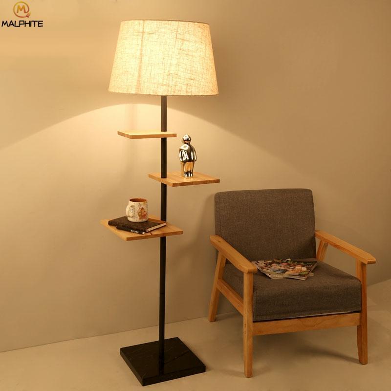 2019 Modern Wood Floor Lamp For Living Room Decor Luminaire Standing