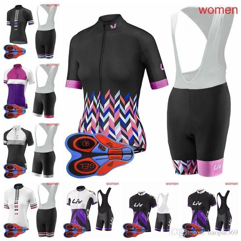 LIV Team Summer Cycling Jersey Short Sleeve Breathable Bike Clothing Quick  Dry Bicycle Sportswear 9D Gel Pad Bike Bib Pants H1407F Cycling Underwear  Merino ... eade25023
