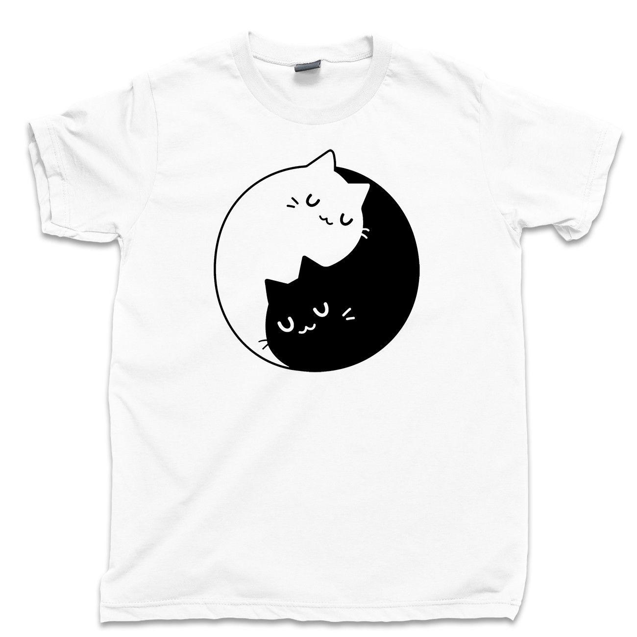 ae9c42b61d0d31 Yin Yang Cat T Shirt Mother Of Cats Pet Toy Puss Boots Feline Purring Furry  Tee White Black Grey Red Trousers Tshirt Design 1 T Shirt Good T Shirt  Sites ...