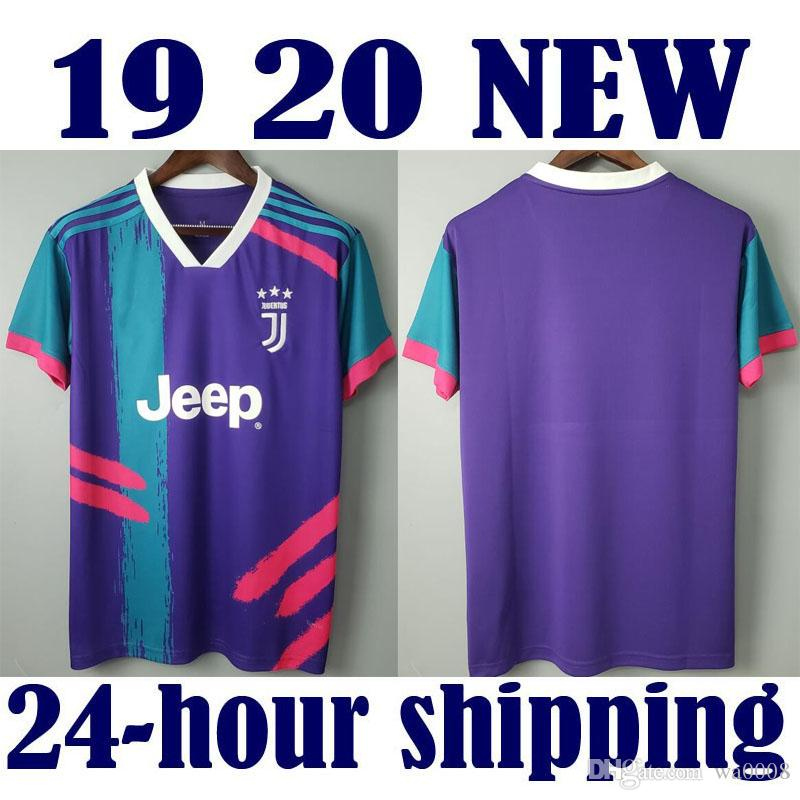 best website 98ed8 6f87a 2019 2020 juventus soccer jersey training suit Football Shirt 7# RONALDO  soccer jersey 10# DYBALA CR7 EA SPORTS purple