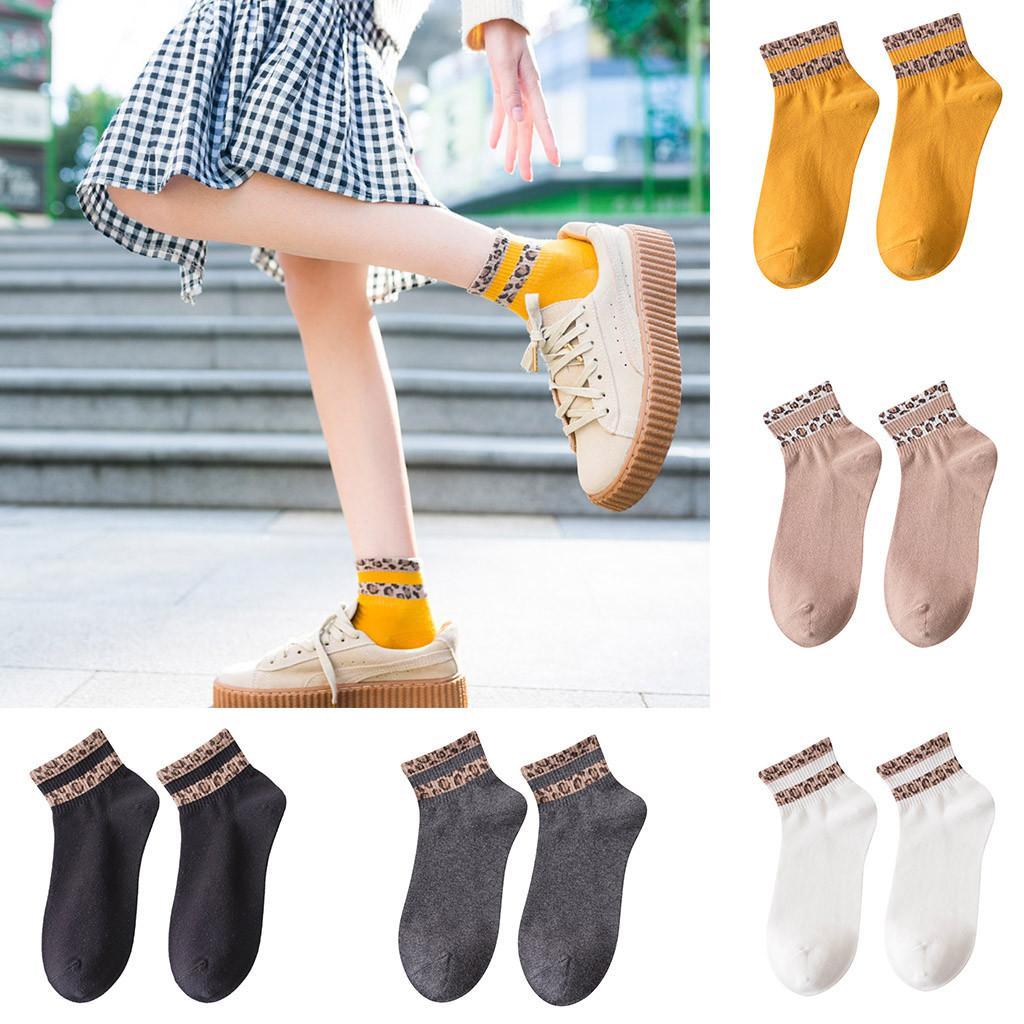 7961866a4e4d MUQGEW College Wind Socks for Women New Spring Women Ladies Leopard Print  Socks Fashion Anklets Sox Bobbysocks#y4 Socks Cheap Socks MUQGEW College  Wind ...