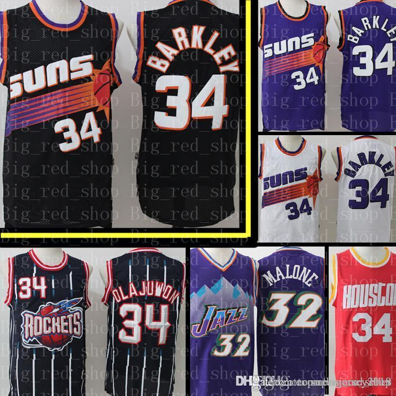 reputable site bd657 c4c3d Charles 34 Barkley Phoenix Mens Suns Jersey Mens Retro Mesh Phoenix Sun  Basketball Jerseys Embroidery Logos Cheap sales