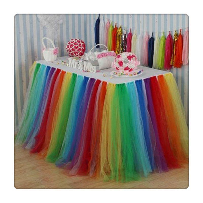 6e50d4299 Faldas de mesa Cubierta de mantel para niña Fiesta de princesa Baby Shower  Fiesta de pijamas Fiestas de cumpleaños de boda Decoración del hogar al ...