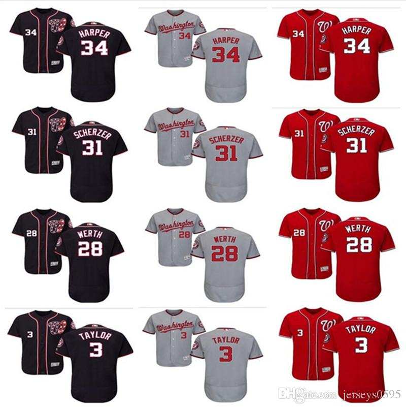 a4eaaba57 ... ireland 2019 custom mens women youth washington nationals jersey 34  bryce harper 28 jayson werth 31