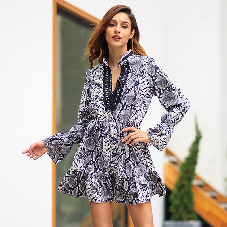 031838b9a7 Compre Vestido De Mujer Primavera 2019 Nuevo Estampado De Leopardo  Temperamento Conmute Vestidos Grandes A  30.34 Del Tt lady
