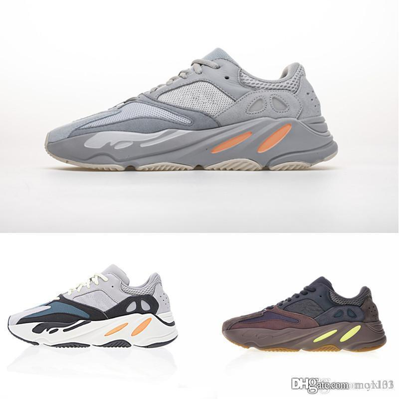 New 700 Inertia Grau Orange V2 Static Wave Runner Mauve Dreibettzimmer Laufschuhe Herren Damen Trainer Kanye West x Sport Designer Sneakers 36-45