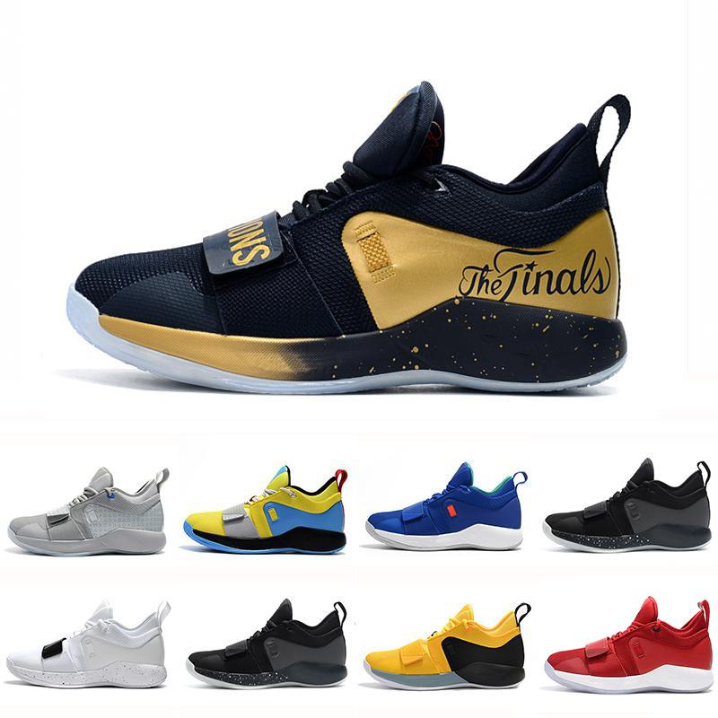 c9414ff45bba75 Gold Champion PG 2.5 University Red Opti Yellow Men Basketball Shoes Racer  Blue White Black Wolf Grey Mens Paul George Sports Sneakers Wedges Shoes  Black ...