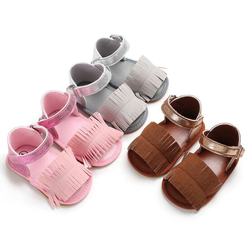 New Arrival Summer Newborn Infant Baby Girl Soft Sole Sandal Toddler Shoes Princess Sandals Baby Girl Tassel Casual Outfit Shoes