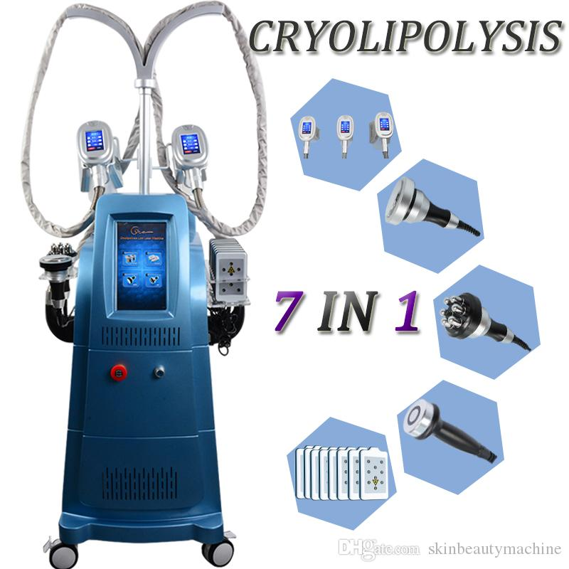 Body Sculpture Cryolipolysis machine 3 Cryo Handles Ultrasonic Cavitation RF Skin Tightening Lipo Laser Weight Loss Slimming Machine