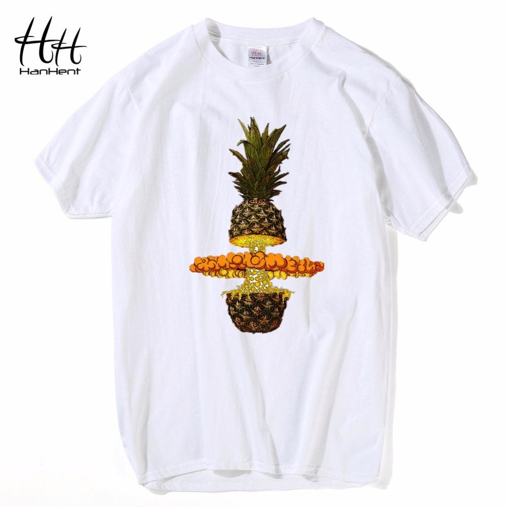 950f5b169 Hanhent Bang Pineapple T Shirt Men Cotton Crew Neck Funny Top Tees Summer  Print Tee Shirts Wholesale Discount Men's T-shirt Beach Boys