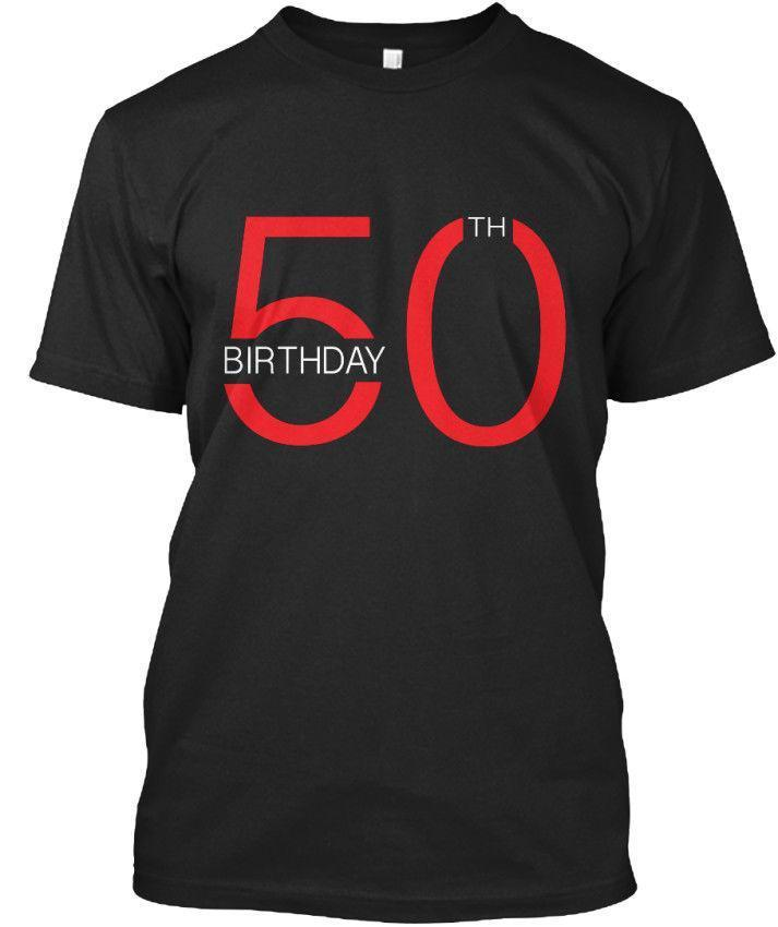 Happy 50th Birthday Standard Unisex T Shirt Tee Designers Funny Print Shirts From Jie40 1467