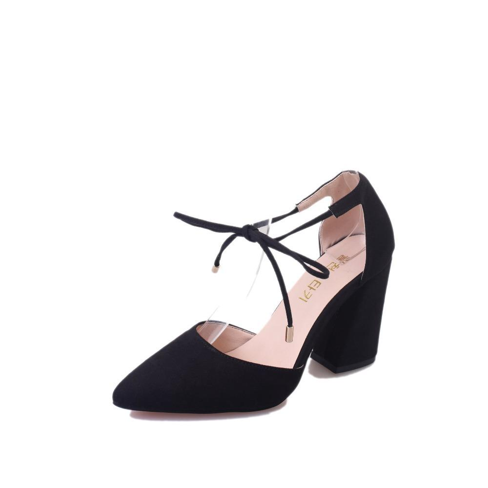 c3aab3558c2 2019 Dress ZHENZHOU Women Pumps Summer Cross Strap High Heels Thick With  Pointed Hollow Sandals Suede Gray Women S Shoes Comfort Shoes Mens Boat  Shoes From ...