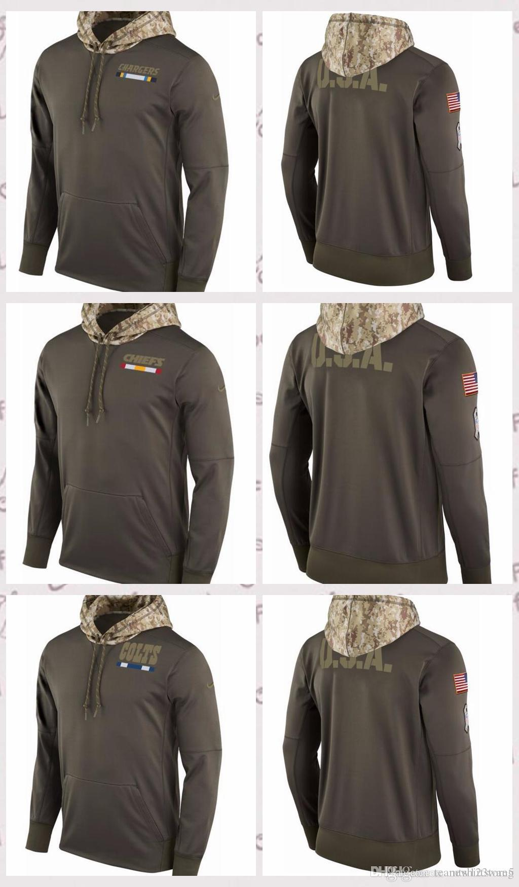 brand new c9724 cbbea Men s Indianapolis Colts Kansas City Chiefs Los Angeles Chargers Salute to  Service 2017 Therma-FIT Performance Hoodie