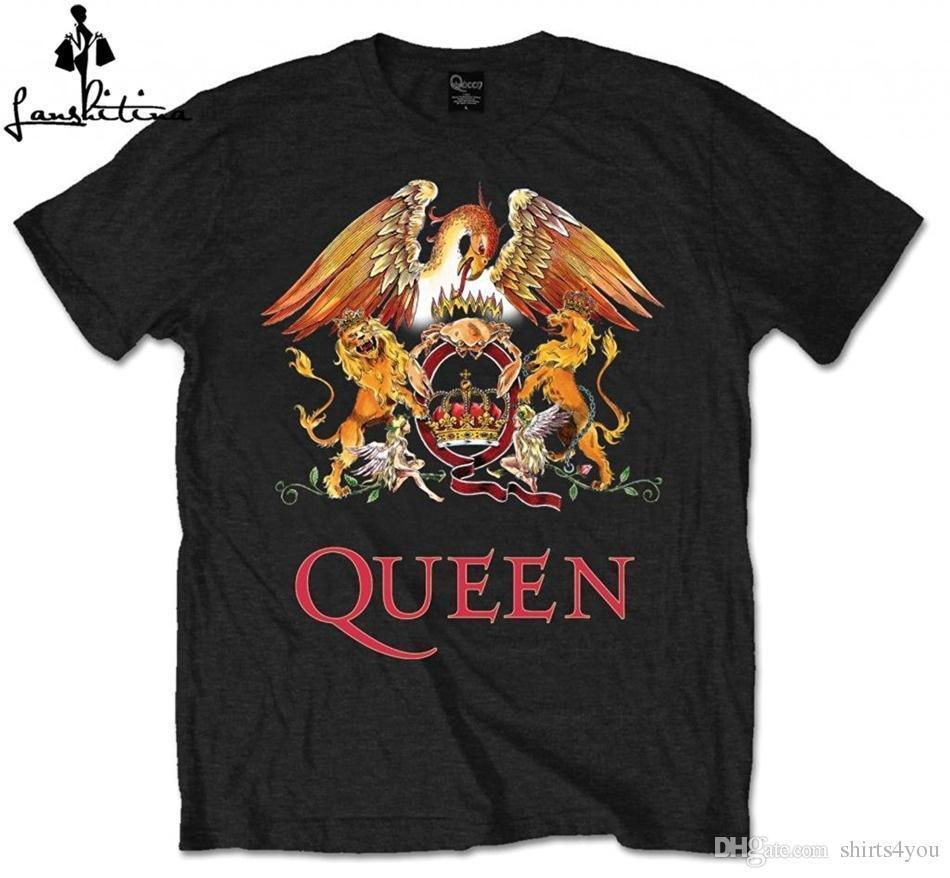 Compre Camiseta De Manga Corta Con Logo De Queen Crest Camiseta De Hombre  Camiseta Top Para Hombre Camiseta De Manga Corta Para Hombre Unisex Para  Mujer A ... 980629f1c66