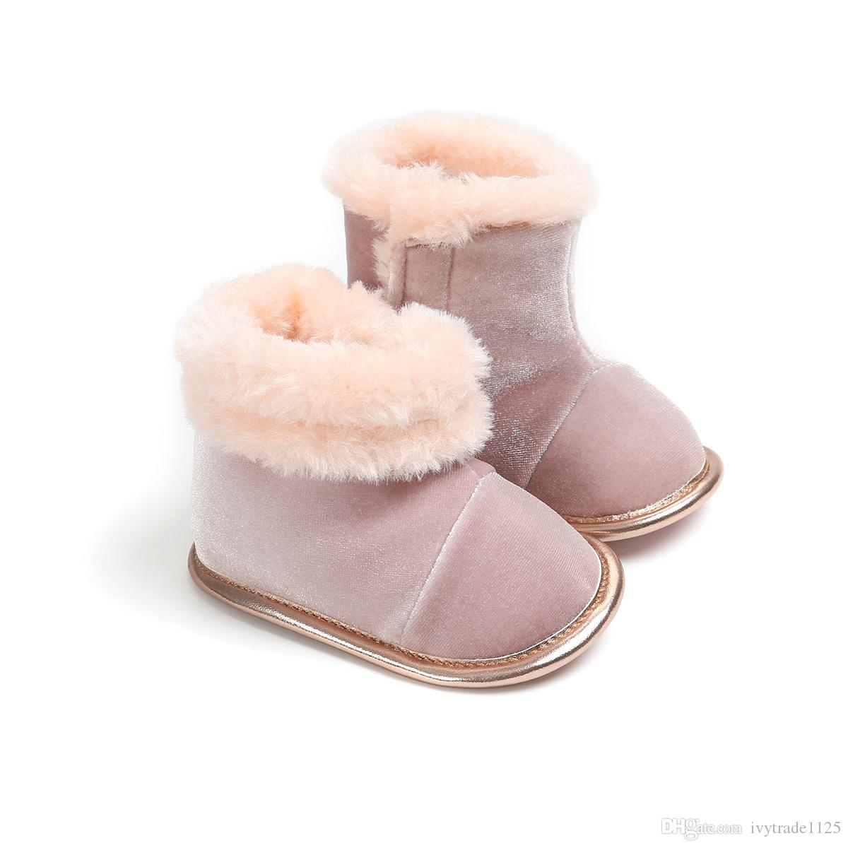 Baby Winter warm cotton boots boys girls cotton shoes for babies learning to step shoes and anti-skid First Walking Shoes size 11/12/13cm