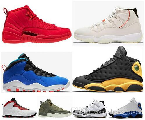 sale retailer bf88b 30441 12 12s Gym Red Basketball Shoes Tinker 10s Platinum Tint 11s Cap and Gown  Concord 13s Class of 2002 Mens Sports Sneakers 36-47