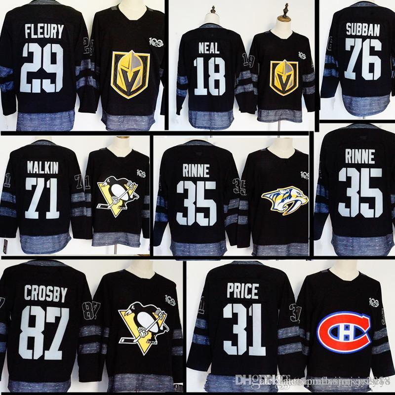 newest d4396 72eb8 2019 100th Vegas Golden Knights 18 James Neal 29 Marc Andre ...
