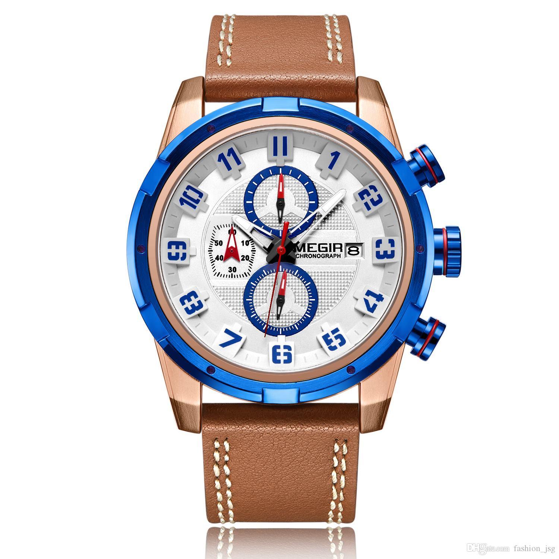 748df6e01f7 Compre BRW Moda Esporte Homens Assista Marca De Couro Do Exército Relógios  Militares Relógio Homens Relógio De Pulso De Quartzo Horas Hora Saat Relogio  ...