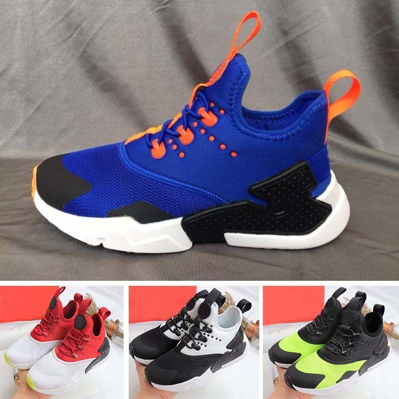 54852a57b90eb 350 Air Huarache Classical White Black Huarache Shoes Big Kids Boys ...