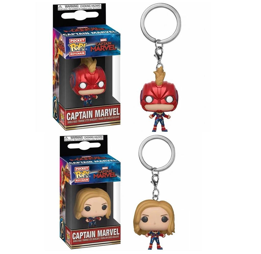 Avengers 4 Funko POP Captain Marvel Action Figures Toy PVC Superhero Cartoon movie toys Kids gift pendant accessories 100PCS AAA1916