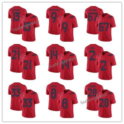 7c944a87f 2019 Mens Arizona Wildcats Jerseys 13 Brandon Dawkins 14 Khalil Tate 8 Nick  Foles 28 Nick Wilson Nathan Tilford College Football NCAA Jersey From ...