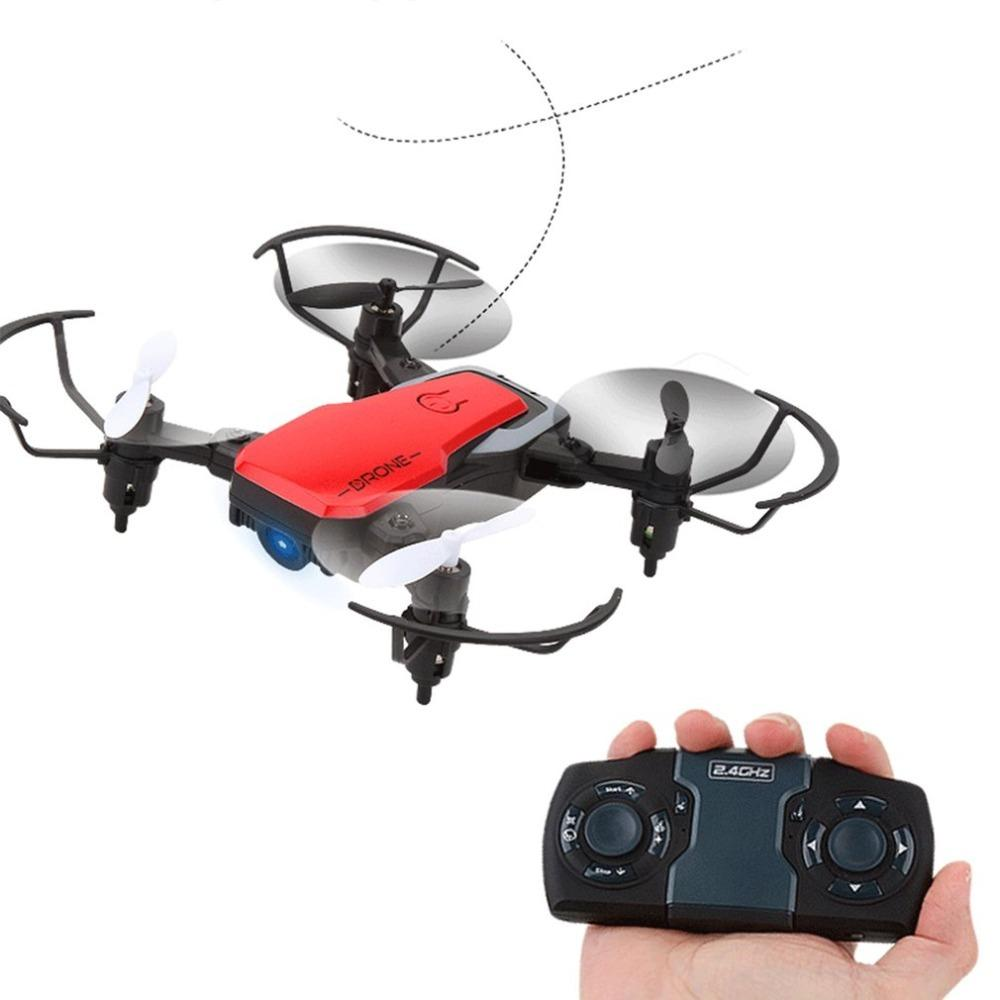GW10 Mini camera Drone 4CH G-Sensor Wide Angle Lens RC Drone Altitude Hold  Headless Mode Foldable Quadcopter with LED Light