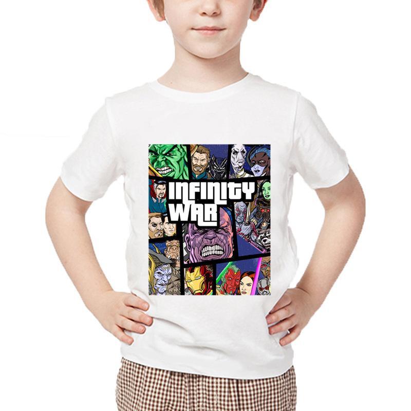 8159264e036 Children Infinity War Avengers T Shirt Funny Titan Summer Kids T-shirt Boys Girls  Tops Baby Brand Clothes