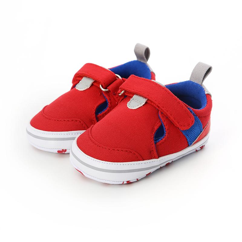 Newborn Infant Baby Boys Shoes Soft Sole Anti-Slip Shoes Solid Color Canvas Fashion Casual Kids 0-18 Months 4 Colors