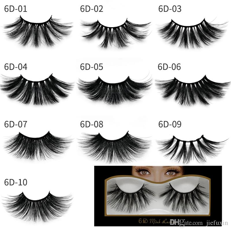 25mm lashes Wholesale 3D Mink Lashes Natural False Eyelashes Dramatic Volume Fake Lashes Makeup Mink Eyelashes Extension Silk Eyelashes