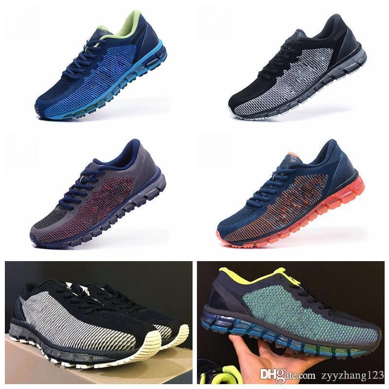 best website efd83 28927 Asics GEL-QUANTUM 360 KNIT 1 2019 Novo Mens Tênis de Corrida Original T9001  / T5801 Homens Sapatilha Esportiva de Qualidade Superior Sapatos de Grife  ...