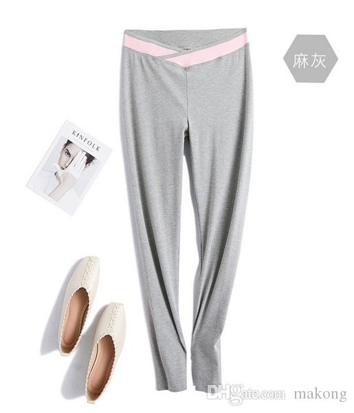 Maternity hot Spring and Summer New Kind of Pregnant Women's Pants Korean Edition Slim Bottom Pants Pregnant women's Trousers