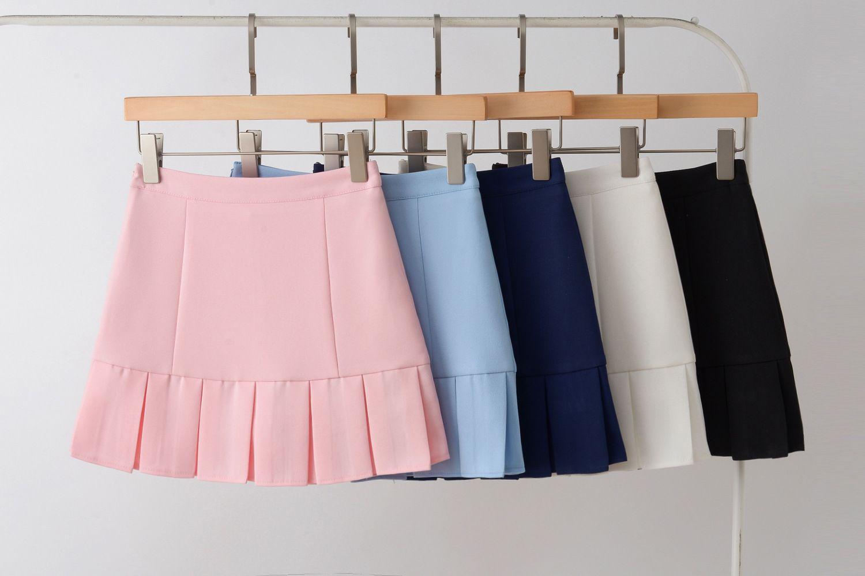 d4ae4fd60 2019 2019 High Waist Womens Pleated Mini Short Skirt Korean School ...