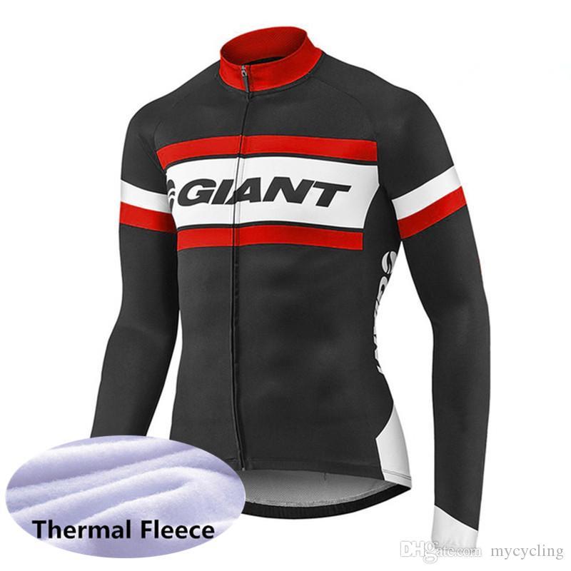 bed10de1b New 2019 GIANT Cycling Jersey Winter Thermal Fleece MTB Bike Shirt ...