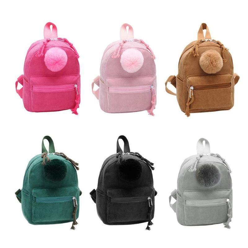 9e3a2593895f 2019 Fashion Diaper Bag Corduroy Cute Backpack Ball Mini Rucksack Women  Travel Student Girl School Bag For Baby Care From Begonior