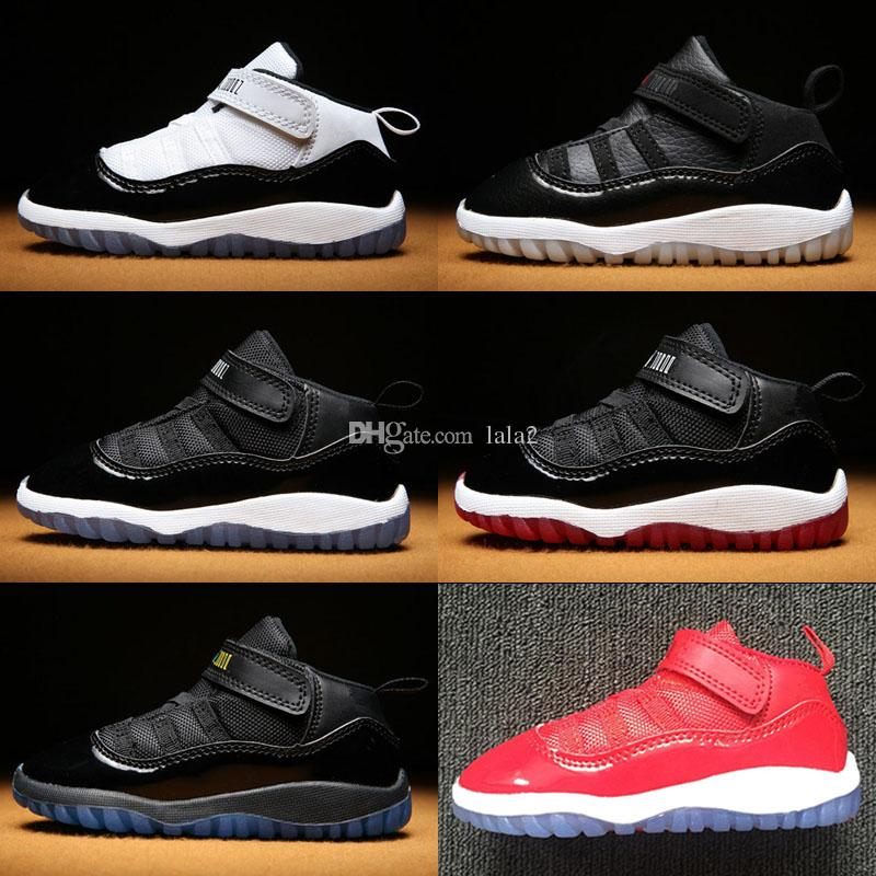 big sale e5cfb f0ea9 Gym Red Jumpman XI 11 Toddler shoes Bred Space Jam Kids Retro Basketball  Sneaker Concord Gamm Blue New Born Baby Infant 11s Shoes Euro 22-27
