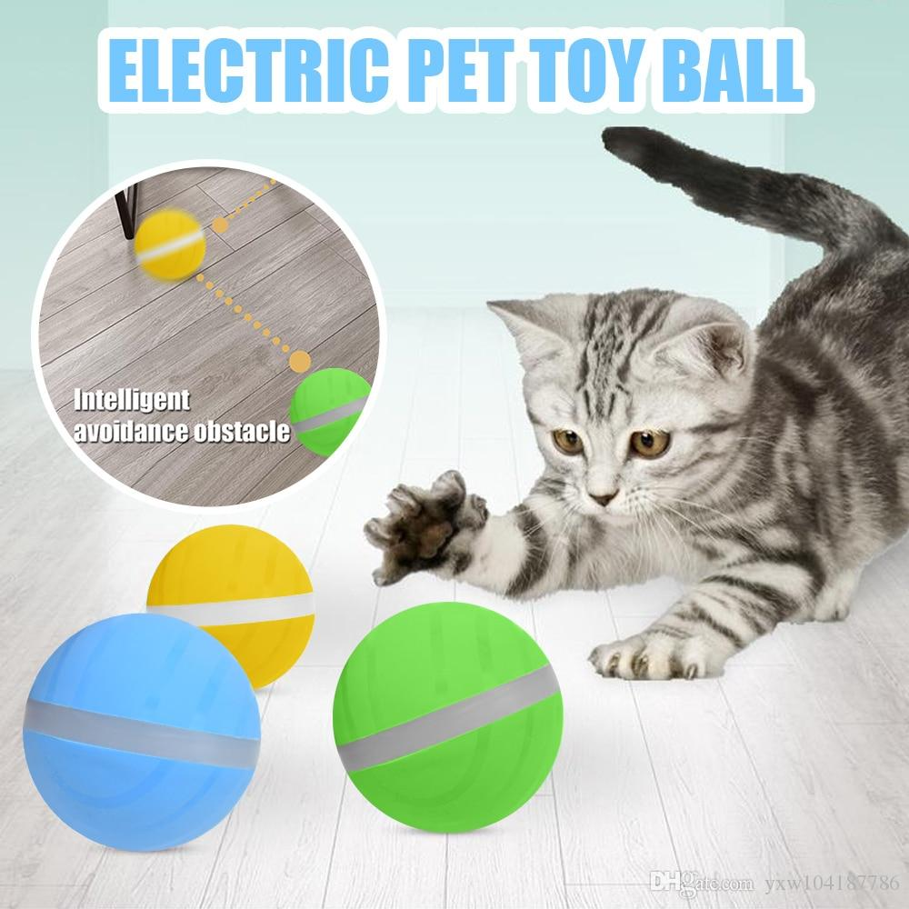 Motion Ball Pets Toy Led Flash Electric Activated Cat Dog Playing Waterproof