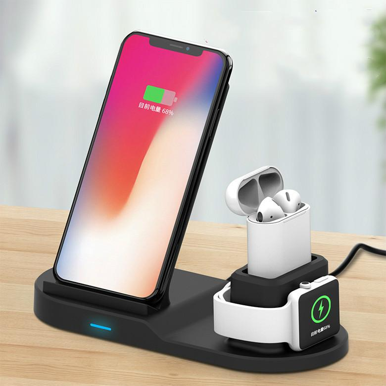3 in 1 wireless charger Qi mobile phone watch headset multi-functional  wireless charging for iphone 8 xs samsung s8 s9 apple watch 1 2 3 4