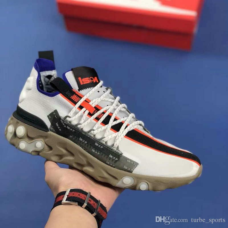 638acdf5b0 2019 New REACT RUNNER MID LW WR ISPA Mens Womens Running Shoes Royal Blue  Black White Orange Trainers Sports Sneakers With Box