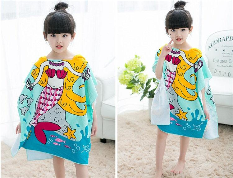 Kids Towel 2018 Toddler Bathrobe Microfiber Baby Boys Girls Spring Animal Hooded Bath Towel Children Cartoon Towel SH190912