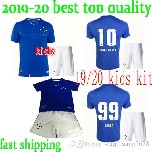 509448fc26e 2019 Fast Ship Kids 19 20 CRUZEIRO Soccer Jersey 19 20 DE ARRASCAETA FRED  ROBINHO THIAGO NEVES Football Shirt Cruzeiro Home Brazilian Club Camisa  From ...
