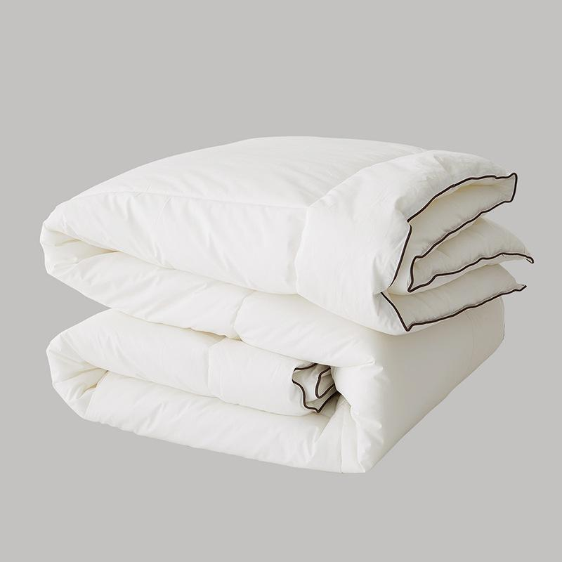Winter Thick Warm Consolatore Comodo Superfine Feather Quilts Quality 100% Cotton Cover Water Washable Home Hotel Copripiumini bianchi