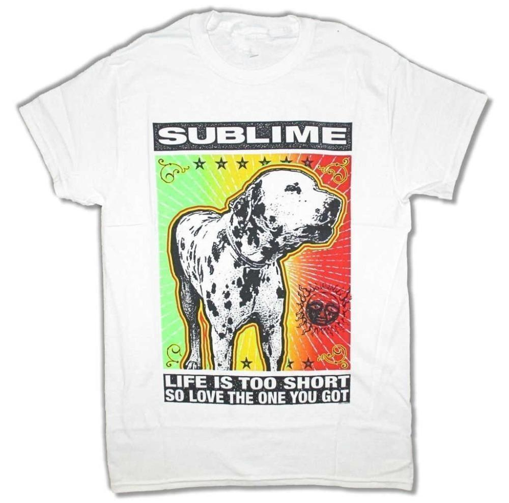 T Shirts For Printing Crew Neck Sublime Love The One You Got Lou Dog