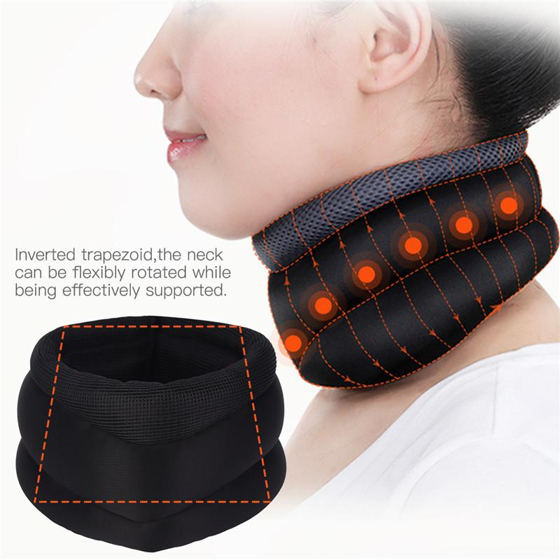 Breathable Neck Brace Magnetic Therapy Neck Support Neck Wrap Adjuster Cervical Collar Posture Corrector Shoulder Pain Relief 35