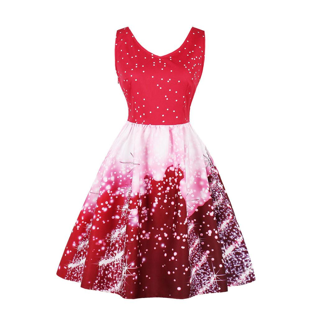Christmas Women Dress Santa Plus Size 4xl Christmas Party Dresses Vintage  Xmas Swing Mini Dress Vestido Curto Robe Femme Long Black Dress Christmas  Party ... 68a14a2ea89d